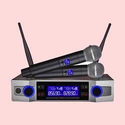 Finlemho bezprzewodowy mikrofon do Karaoke dynamiczny VHF Home nagrywania studyjnego na dźwięk komputerowy profesjonalny głośnik dla dj-a konferencja