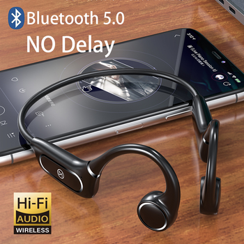 цена на Bluetooth Headphones For Xiaomi Wireless Headset Bone Conduction Earphone Noise Cancellation Earbuds Waterproof Sweatproof Touch