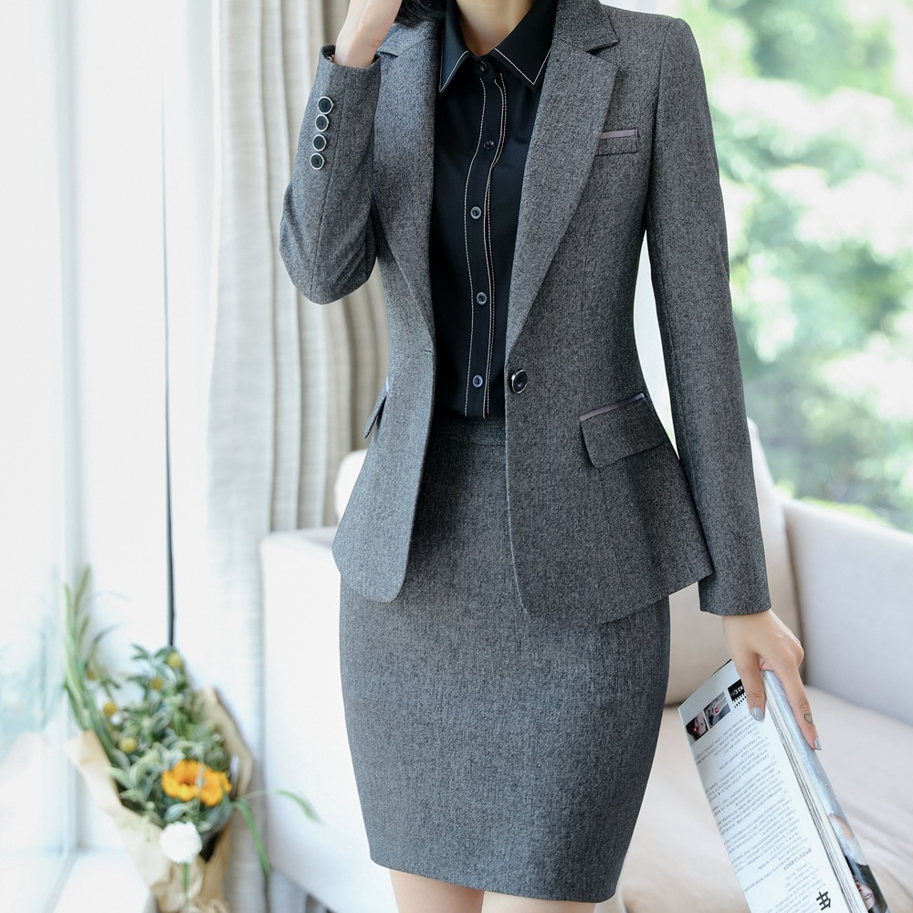Women Wear 2019 New Style Business Suit Autumn And Winter Elegant Business Hotel Formal Wear Work Clothes Suit Work