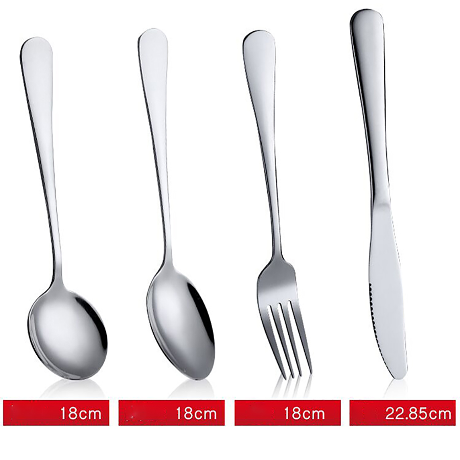 Tableware Flatware Set Stainless Steel Dinner Spoons Knifes Forks Set Knives Cutlery Scuberteria 24 Piezas Kitchen Home 50F002 in Flatware Sets from Home Garden
