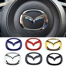 Автомобильная эмблема рулевого колеса, наклейка для Mazda 3 Axela 2 скорости 6 Atenza MX5 323 CX5 CX30 CX3 CX7 CX9 RX8 RX7 626, значки, аксессуары