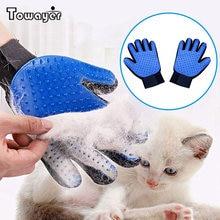 Luva para animais de estimação, luva para remover pelos dos animais de estimação gato, cachorro, luva para massagear o cabelo