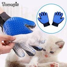 Guante para gato, guante para el cuidado del gato, cepillo para mascotas, guante para pelo de perro o gato, cepillo para quitar el pelo, guantes de masaje de peines para limpieza de perros