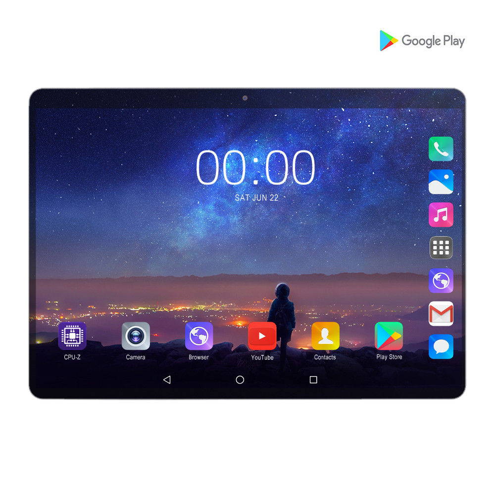 LZWIN 10 Inch Tablet CP9 MID PC Global Bluetooth Wifi Phablet Android 7.0 MTK Core Dual SIM Card 2.5D Tablet CE Band 32GB 64G