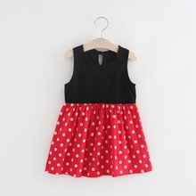 Baby Girl One Piece Sleeveless Summer Sundress Casual Party Dress Printed Princess Dress Cute Girl Dress