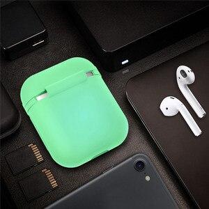 Image 5 - Vococal funda protectora de silicona a prueba de golpes para Apple AirPods, funda protectora que brilla en la oscuridad, accesorios para auriculares inalámbricos