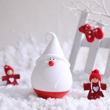 Santa Claus  Patted Silicone Led Lamp Night Light Multicolor Touch Sensor Tap Control Best Gift For Children Baby Kids Light