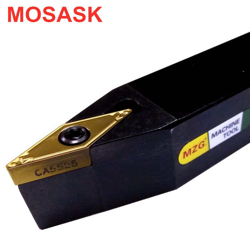 MOSASK SVVBN1616H16 Adapter SVVBN Square Bar VBMT Inserts Machining Cutter CNC Lathe External Turning Toolholders