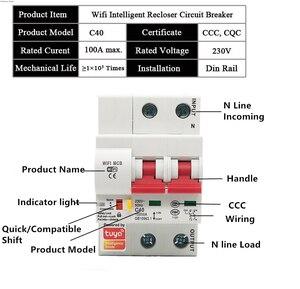 Image 4 - Tuya Smart Wifi Circuit Breaker 2P Automatische Schakelaar Overbelasting Kortsluiting Alexa Google Home Compatibel Smart Leven