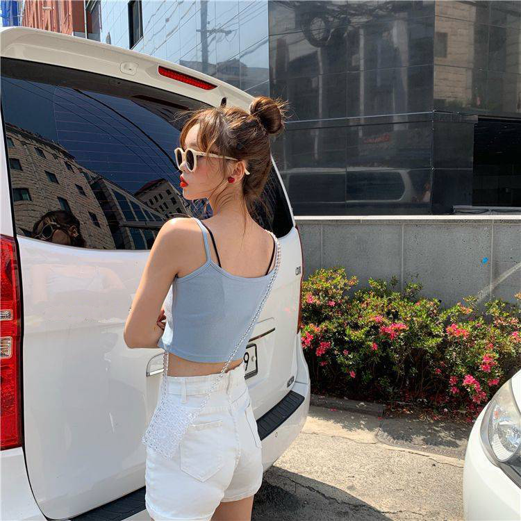Crop Top New Fashion Women Sexy Solid Summer Camis Female Casual Tank Tops Vest Sleeveless Cool