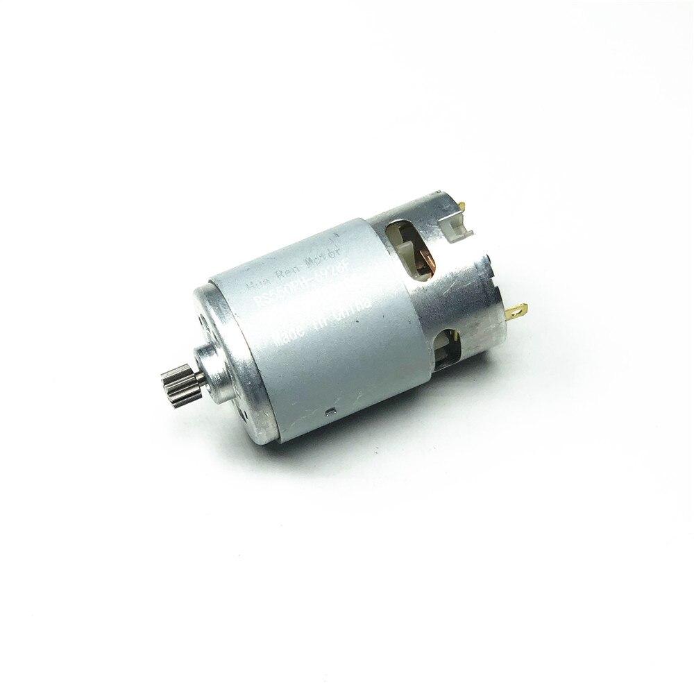 RS550 мотор 17 14 15 12 зубов 9 зубов 7,2 9,6 10,8 12V 14,4 V 16,8 V 18V 21 V, алюминиевая крышка, 25В Шестерни 3 дюймов для беспроводной зарядки дрель электрическая от...