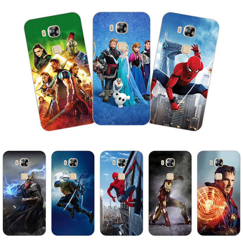 Soft Case For Huawei G8 GX8 D199 G7Plus RIO L01 L02 Back Cover Silicone Fashion texture Cartoon Phone Case Printing Drawin Case