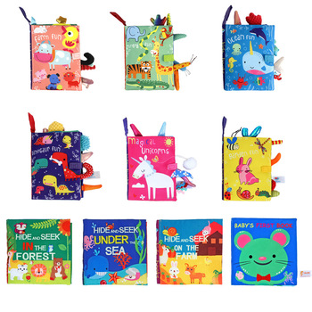 0-12 Months Baby First Cloth Book Infant Toddler Educational Booklets Toys 1 Year Ring Paper Enlightenment Book KF182 1