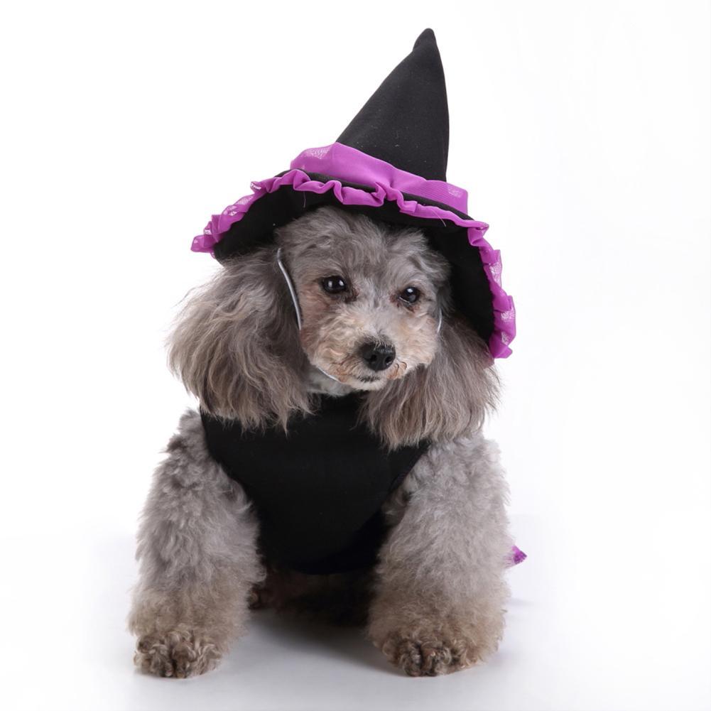Halloween Christmas Pet Dog Puppy Wizard Dress Hat Clothes Costume Coat Apparel