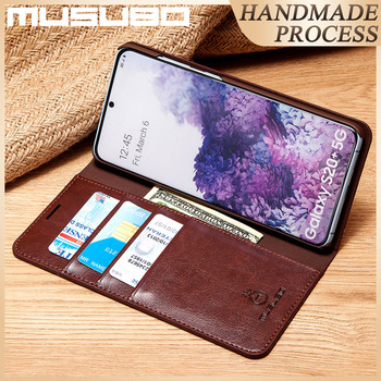 Musubo Genuine Leather Case For Samsung Galaxy S20 5G Cover Flip Casing S20+ S20 Ultra S20 Plus Funda Luxury Wallet Capa Coque
