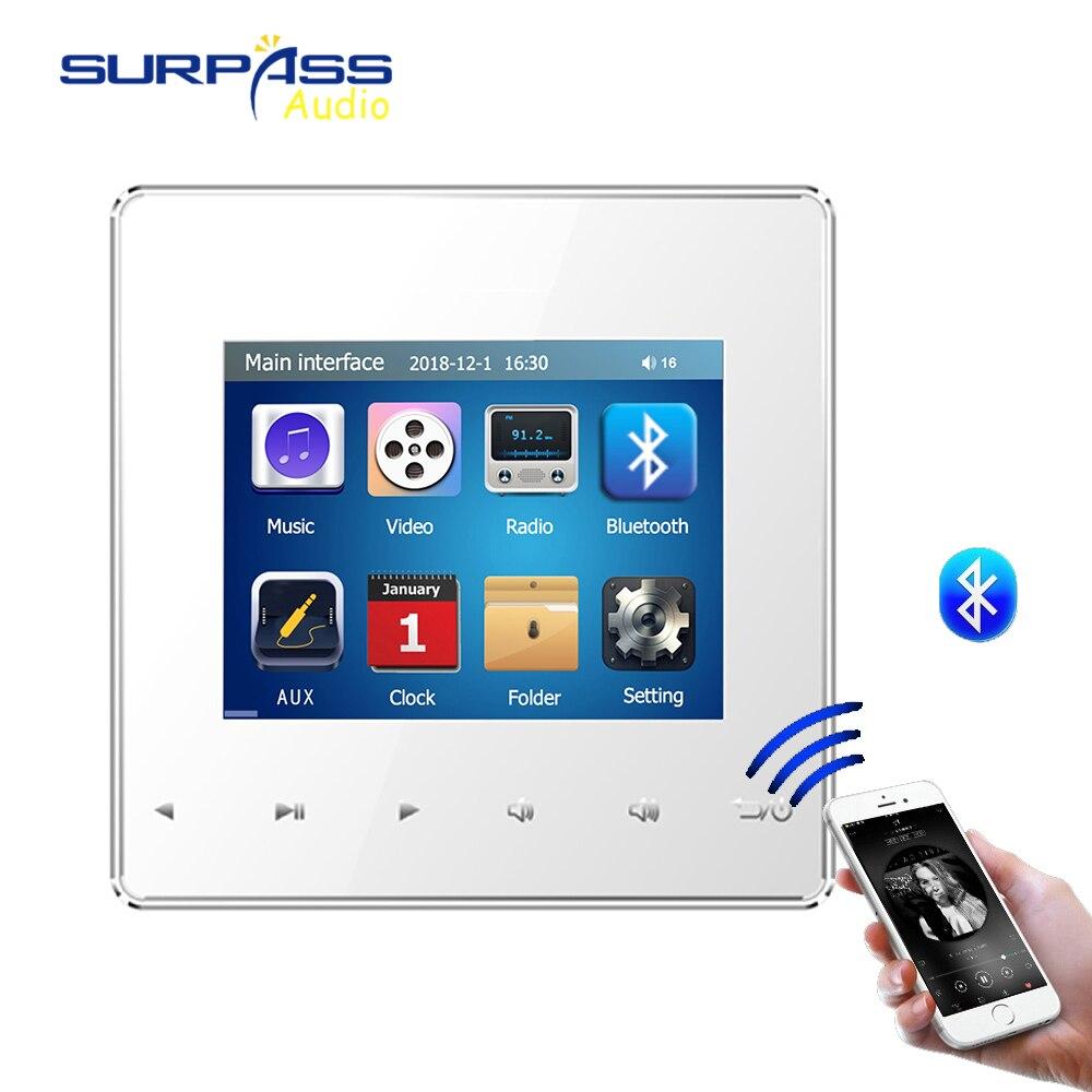 Maison intelligente pro Audio fond HiFi musique Mini mur amplificateur système TV touche tactile numérique stéréo musique bluetooth lecteur RS485 - 3