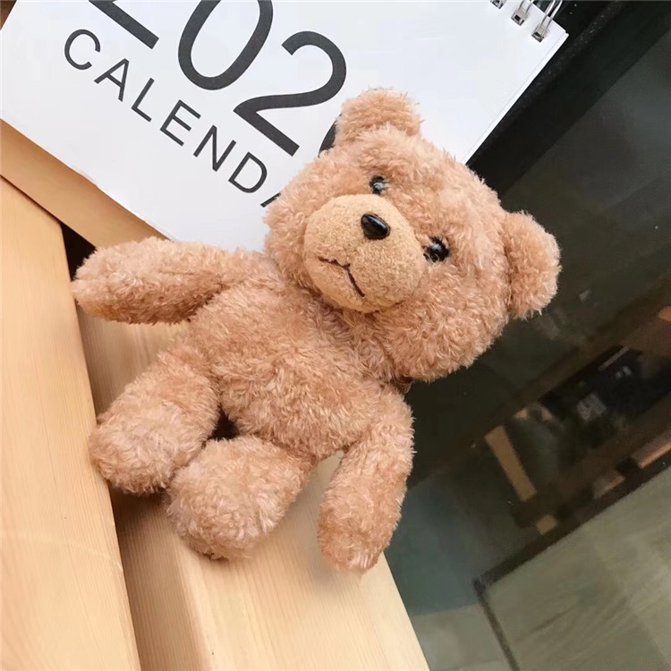 Fluffy Cartoon Bear Case For Airpods 2 1 Furry Cloth Wireless Earphones Knitted Plush Skin Covers For Air Pods Case For Winters