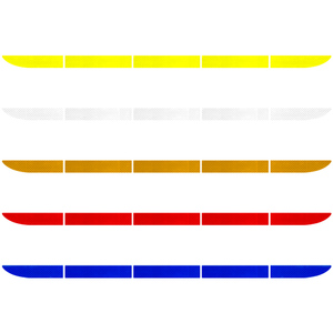 Image 2 - Car Sticker Reflective Warning Safety Tape Film Auto Strip Decoration Bumper Reflection Anti Collision Stickers Car Accessories