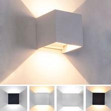 Modern Indoor Wall Lamp 6W/12W LED Adjustable Aluminium Wall Light Aisle Stair Decorate Lighting Fixture Bedroom Bedside Lamp