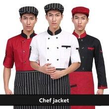 Chef Restaurant Uniform Short/Long Sleeve Cook Jacket Coat Barista Baker Work Uniform Waiter Clothes