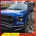 Estilo do carro para ford raptor f150 2015 2018 faróis para raptor cabeça lâmpada led drl frente bi xenon lente feixe duplo hid kit
