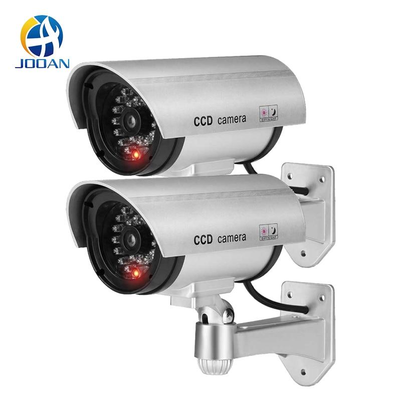 2 pièces factice fausse caméra CCTV caméra de Surveillance magasin maison sécurité lumière LED caméra de Simulation étanche caméra extérieure