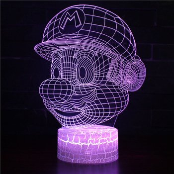 Trendy 3D Stereo Vision Lamp Acrylic 7 Colors Changing USB Bedroom Bedside Night Light Desk Lamp Best Gifts цена 2017