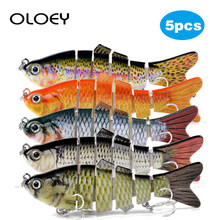 OLOEY Fishing Lures Sinking Wobblers 6 Segments 5Pcs Multi Jointed Swimbait Hard Bait 10cm 17.5g For Bass Fishing Lure Crankbait(China)