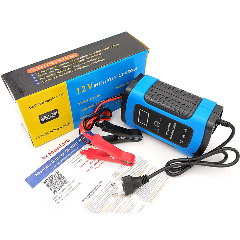 Image 5 - 12V 6A LCD Smart Fast Car Battery Charger for Auto Motorcycle Lead Acid AGM GEL Batteries Intelligent Charging 12 V Volt 6 A AMP-in Battery Charging Units from Automobiles & Motorcycles
