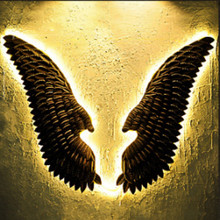 Retro Industrial  Wall Decorations Angel Wings  Internet Cafe Wall Mural Bar Coffee Party Photo Supply Murals Iron Wings large metal angel wings with led lights vintage ancient iron retro wings wall decoration bar cafe wall home decor accessories