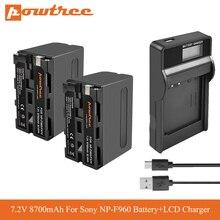 цена на NP-F960 NP F970 Camera Battery+LCD USB Charger for Sony NP-F550 F770 F750 F960 FM500H FM70 QM91D QM71D HVR-V1J VX2200E D77 PLM
