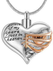 Jewelry Locket Urn-Necklace Keepsake-Pendant Memorial Ashes Heart-Cremation In-Heaven