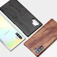 삼성 갤럭시 노트 10/노트 10 + 5G 라이트 월넛 엔니 우드 로즈 우드 마호가니 나무 슬림 백 케이스 커버