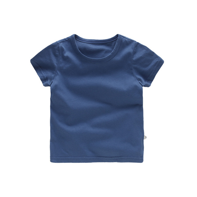 VIDMID Kids Tops Baby Boys Cotton Short Sleeve t-shirt Tees girls Children Casual candy color clothes  boys girls tees 4018  01 6