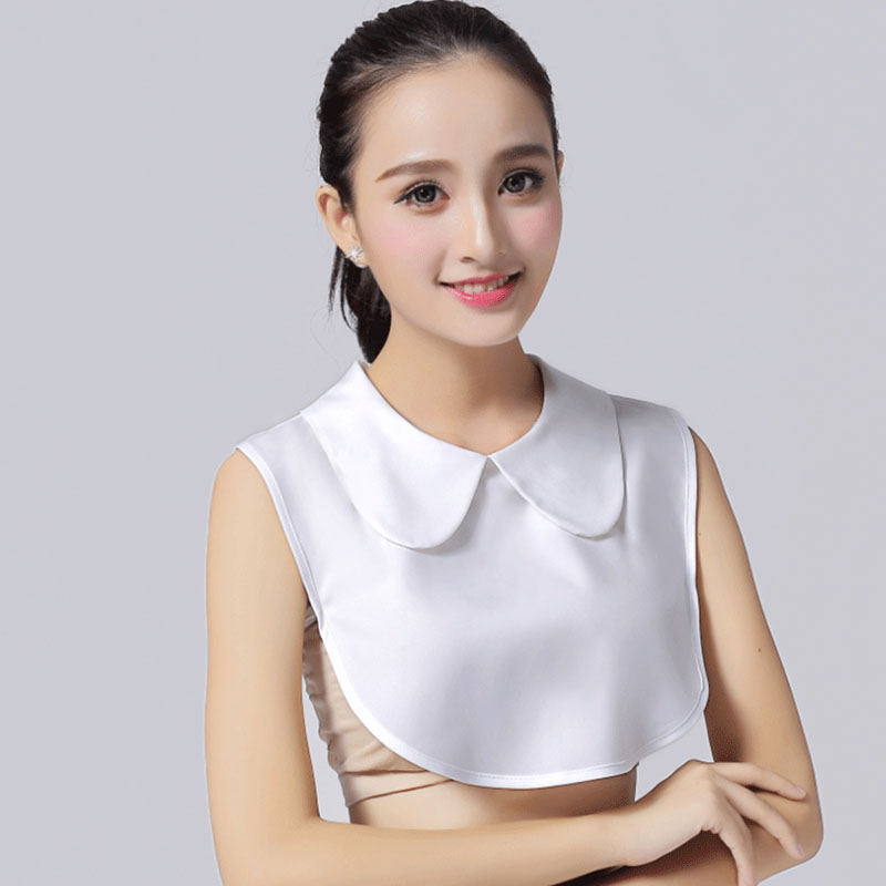 Vintage White Fake Collar Ladies Blouse Womens Shirt False Collar Peter Pan Detachable Collar Black Lapel Top Shirt Accessories