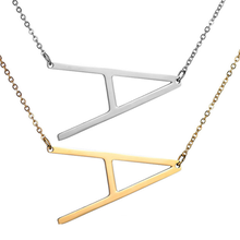 Specialyou 26 A-Z Letter Name Initial Necklaces For Women Long Big Pendant Necklace Gift for Girlfriends