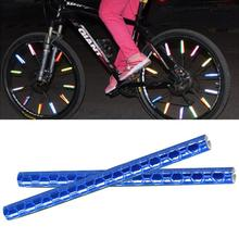 12pcs Bicycle Mountain Biking Rim Spoke Mount Clip Tube Warning Light Strip Reflector Reflective Outdoor 75mm цена