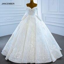 Белое свадебное платье j67206 janceber 2020 с блестками милое