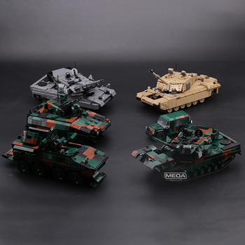 The New Military Technic Weapon Army German 8×8 Tank Carrier Cheetah M113 Armored Car Building Blocks WW2 Bricks Toys Pre-sale the military technic xingbao new 06042 army theme armored tank building blocks ww2 weapon figures bricks boy s birthday toys