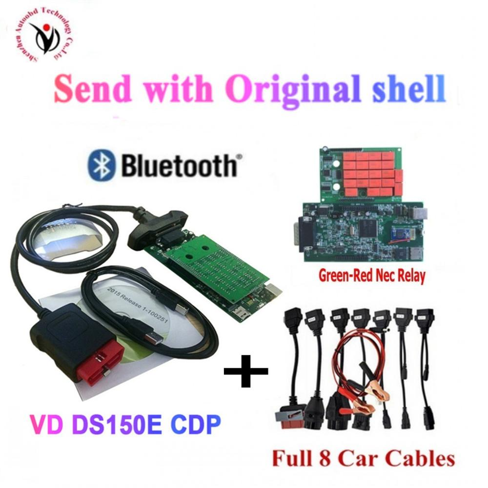 VD DS150E CDP New 2015 <font><b>R3</b></font>/ 2016.R0 New VCI VD TCS CDP PRO with Bluetooth For Truck&Car 3in1 Auto OBDII Scanner Diagnostic <font><b>tools</b></font> image