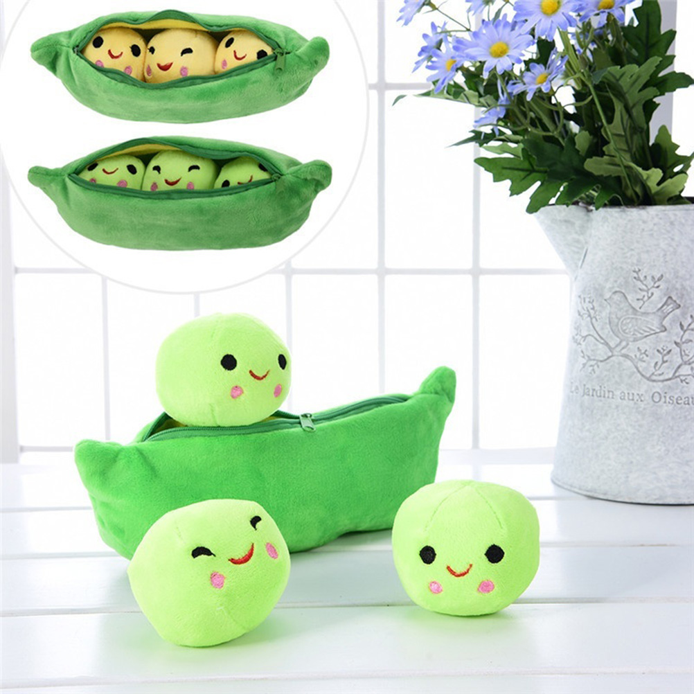 Creative Cute Toys Doll For Children 3 Peas In A Pod Plush Toy Soft Throw Pillow Stuffed Pea Pod Toy Kids Birthday Xmas Gift #20