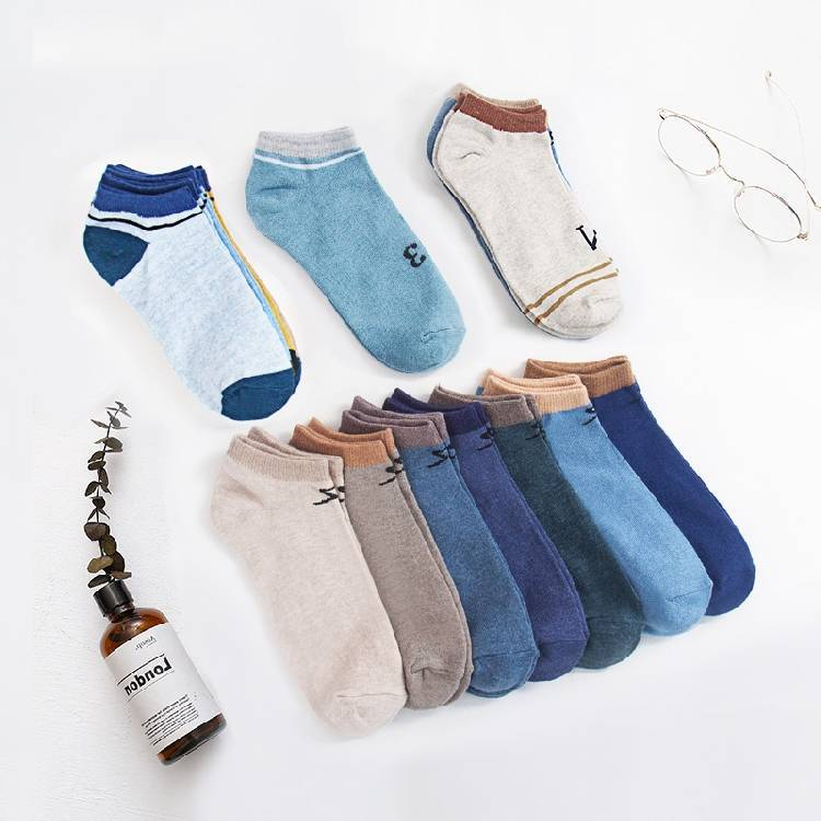 Socks Men's Spring Summer Thin Section Men's Socks Low Top Low-Cut No-show Socks Comfortable Cotton Jersey Socks