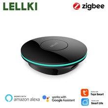 LELLKI ZigBee 3.0 Smart Hub, Tuya Wireless Gateway Bridge for App Voice Remote Control, Works with Alexa Google Home Assistant