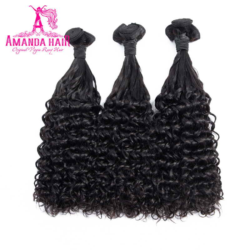 Amanda Double Drawn Hair Fumi Deep Curl Brazilian Virgin Hair Natural Color Unprocessed Virgin Human Hair 100g/piece Full End