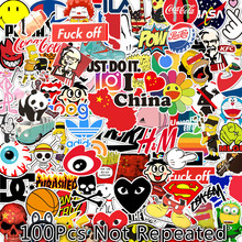 100Pcs 50Pcs Cutes Stickers Anime Pack Motorcycle Space Astronaut Guitar Sticker Cartoon Small TZ144G
