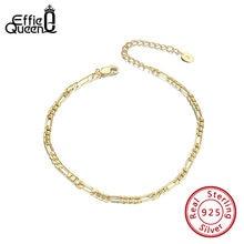 Effie queen классический ромбовидный Фигаро цепочка эклиптический