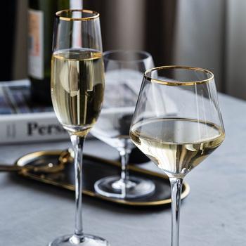 MDZF SWEETHOME złoty brzeg kieliszek do czerwonego wina ukośna lampka do czerwonego wina na wysokiej stopce szklany Boer zwykły kieliszek do wina bordowy kubek kufel na piwo tanie i dobre opinie MDZF SWEET HOME CN (pochodzenie) ROUND CE UE Szkło Pojemnik na koktajl Ekologiczne Na stanie Crystal red wine cup