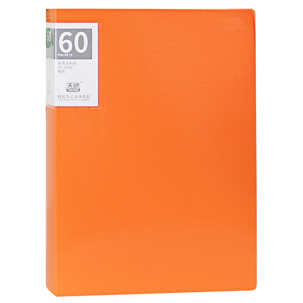 TIANSE Multilayer File Folder A4 Insert Loose Leaf Book Student Information Sheet Music Folder Data Book 60 Pages