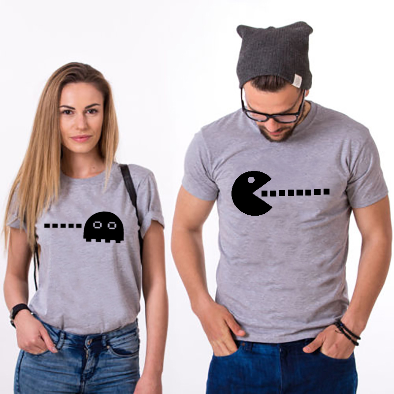 T Shirt Couple Clothes TShirt Pacman Husband Wife T shirt Pacman Graphic Tees Funny T Shirts Valentine Wedding Gift for Husband in T Shirts from Men 39 s Clothing