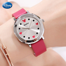 Disney children's quartz Wristwatch boy girl watch and gift cute trend personality mickey mouse kids Water Resistant